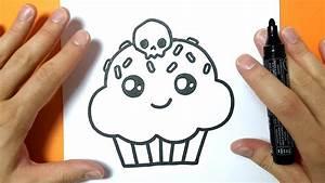 Dessin Facile Halloween : comment dessiner un cupcake kawaii sp cial halloween ~ Melissatoandfro.com Idées de Décoration