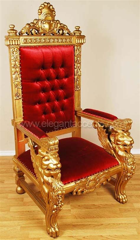 winged lion throne chair gold ff props king chair