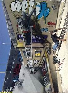 17 Amazing 3D Graffiti Artworks That Look Like They39re