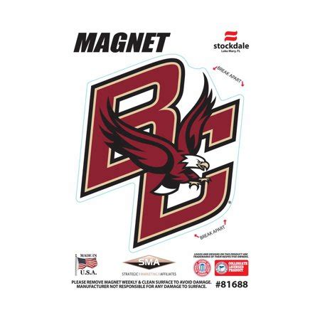 boston college colors boston college eagles ncaa outdoor magnet team color