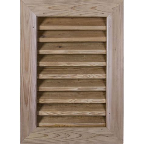 cedar gable vents ekena millwork gvwve vertical wood gable vent 2031