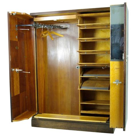 Two Door Wardrobes For Sale by Deco Mahogany Compactom Armoire Wardrobe Fitted