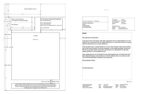 pages briefvorlage norm din  mit bezugszeichenzeile