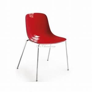 Chaise Rouge Design : chaise rouge design pure loop et chaises design rouge infiniti chaises cuisine lyon salle a ~ Teatrodelosmanantiales.com Idées de Décoration