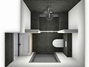 Salle De Bain 3m2 : comment am nager une salle de bain 4m2 bathroom ~ Dallasstarsshop.com Idées de Décoration
