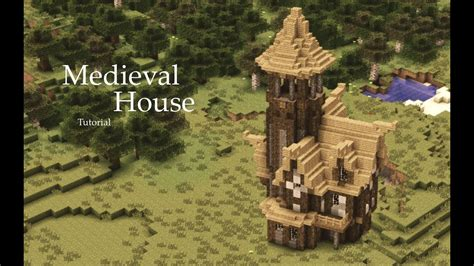 minecraft medieval house tutorial design  youtube