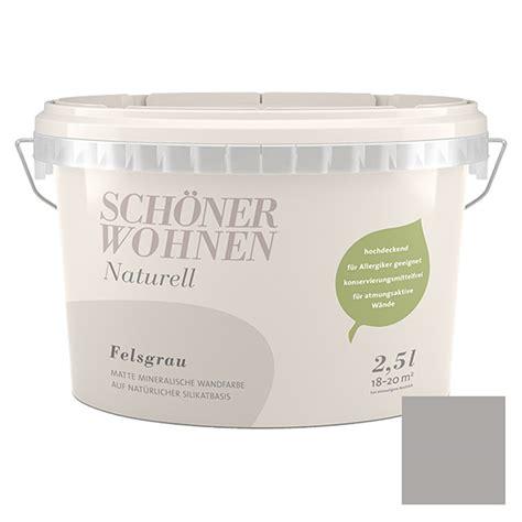 Schöner Wohnen Beratung by Sch 246 Ner Wohnen Wandfarbe Naturell Felsgrau 2 5 L Matt