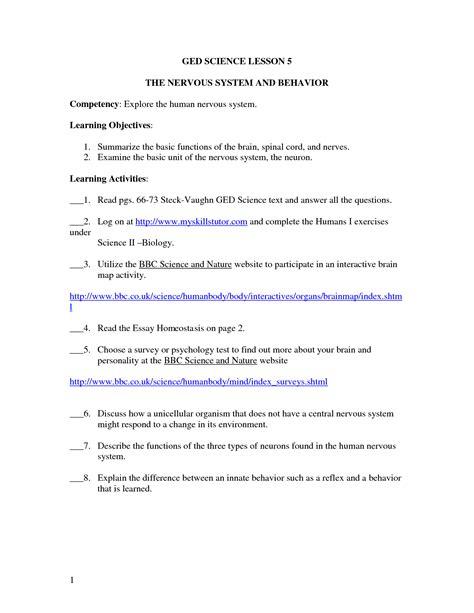 worksheet ged science worksheets grass fedjp worksheet