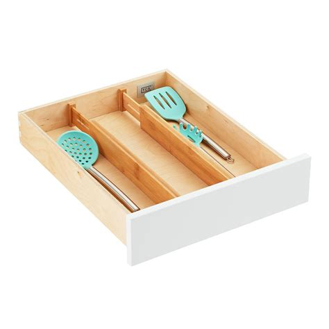 bamboo drawer organizers  container store