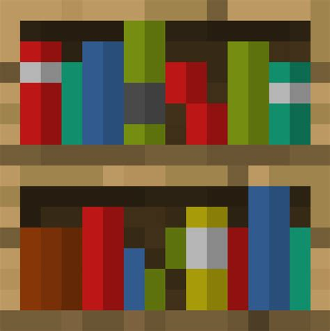 Minecraft Wood Book Shelf Theme Template