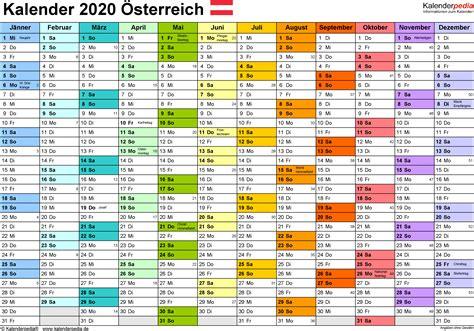 kalender oesterreich excel zum ausdrucken