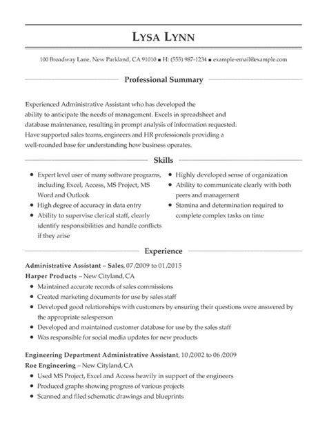 Support Assistant Resume by Administrative Support Combination Resume Sles