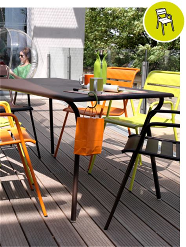 salon de jardin monceau fermob en m 233 tal et couleur design contemporain