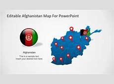 Editable Afghanistan Map For PowerPoint SlideModel