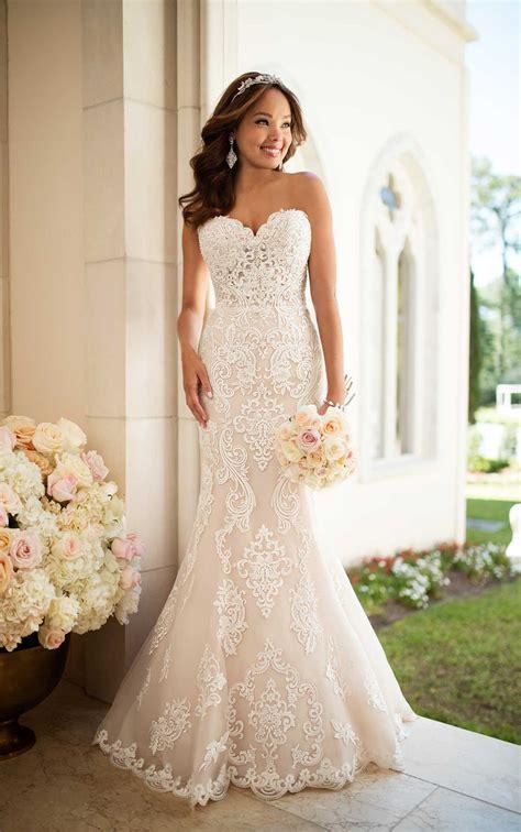elegant lace wedding dress stella york wedding gowns