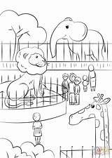 Coloring Zoo Animals Pages Printable Drawing Crafts Games Puzzle Paper sketch template