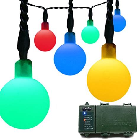 vmanoo battery operated outdoor string vmanoo globe battery operated optional automatic timer