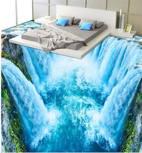 3d Epoxy Wallpapers by 3d Wallpaper 3d Floor Murals Pvc 3d Waterfall Bathroom