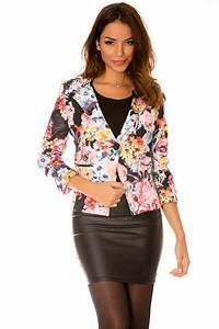 Blazer Femme Fleuri : veste fleuri femme pas chere les vestes la mode sont populaires partout dans le monde ~ Melissatoandfro.com Idées de Décoration