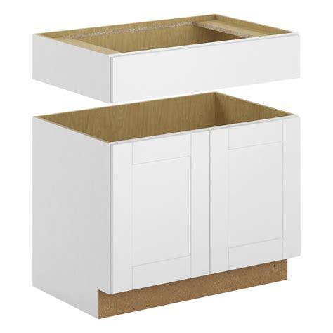 white base kitchen cabinets hton bay princeton shaker assembled 36x34 5x24 in 1254