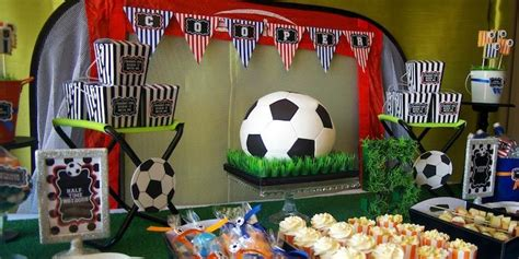 soccer themed birthday party planning ideas decor cake