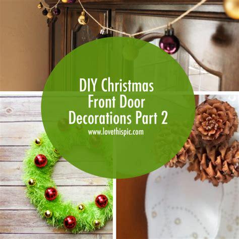 diy christmas front door decorations part