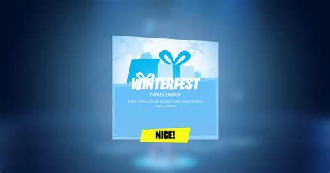 Fortnite Winterfest 2019 Day 1 Challenge & Reward Now Live ...