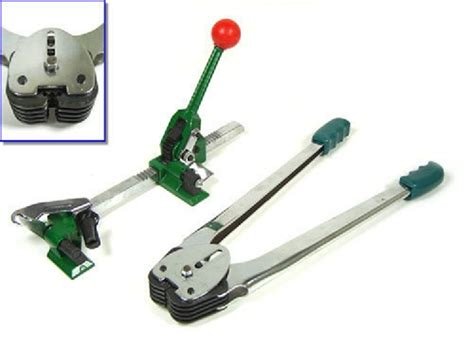 pc strapping banding tool machine tensioner crimper set sealer packaging poly ebay