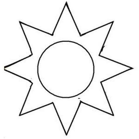 Sun Template The Gallery For Gt Blank Papercraft Templates