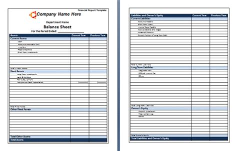 financial report template report templates free word s templates