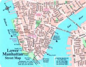 Map of Lower Manhattan World Trade Center