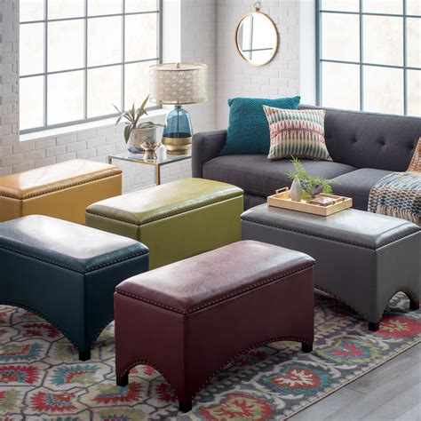 Living Storage Bench by Belham Living Hutton Arched Nailhead Storage Bench