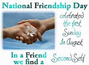 Celebrate Friendship Day! – August 1