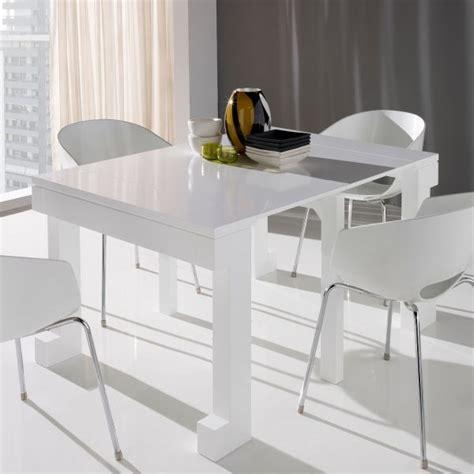 table console cuisine table console extensible laquée blanc mobilier