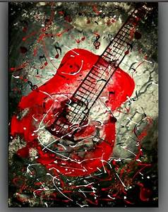 cool oil paintings art | Art Work Paintings Store | Guitar ...