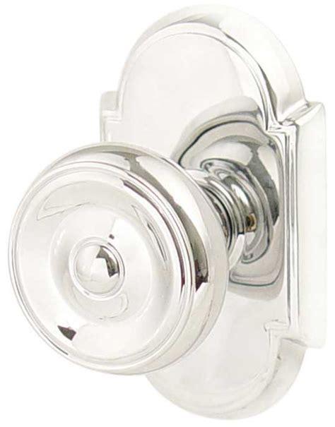 Cabinet Knob Backplate Chrome by Emtek Waverly Brass Door Knob Shop Door Knobs At