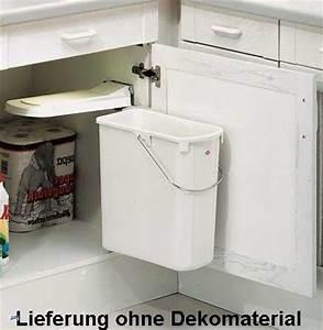 Einbau Mülleimer Küche : wesco einbau abfalleimer m lleimer k che 19l weiss f r 45 er unterschrank 40061 ebay ~ Orissabook.com Haus und Dekorationen