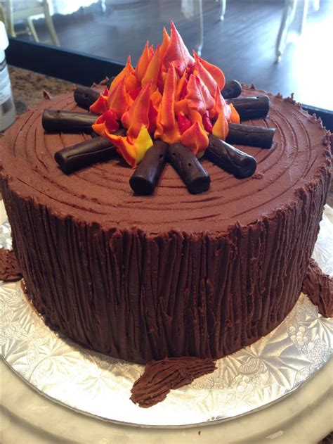 ideas  campfire cake  pinterest fire pit
