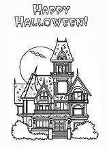 Haunted Coloring Halloween Pages Happy Houses Colouring Sheets Printable Kidsplaycolor Printables Adult Print Books Comments Coloringhome Fall sketch template