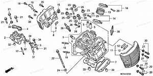 Honda Motorcycle 2007 Oem Parts Diagram For Cylinder Head