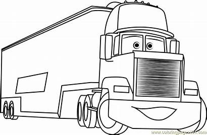 Mack Coloring Cars Pages Coloringpages101 Cartoon