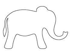 elephant template ideas  pinterest