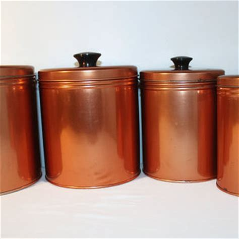 colored kitchen canisters best copper canister set products on wanelo