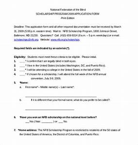 15 scholarship application templates free sample With scholarship guidelines template