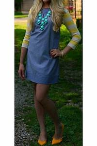 Yellow Stripes Forever 21 Cardigans Chambray Unknown