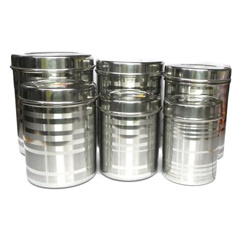 Kitchen Containers Naaptol by Buy Set Of 6 Stainless Steel Canister Container