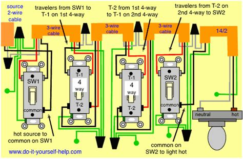 wiring diagram 4 way switches electrical wiring in 2019 light switch wiring