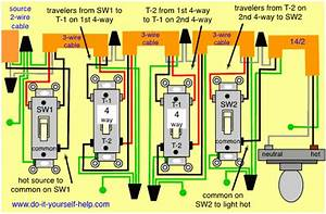 Wiring Diagram  Multiple 4 Way Switches
