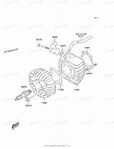 Kawasaki Atv 2006 Oem Parts Diagram For Cylinder Head