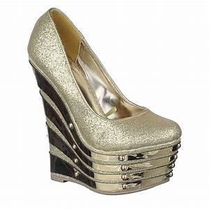 Women 39 S 122 Platform Dress Shoe Gold
